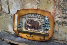 фото 8505  Ключница настенная Охотнику Медведь цена, отзывы
