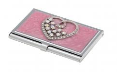 фото 10402  Подарочный набор ручка и визитница Минта розовый цена, отзывы