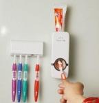 фото 2634  Дозатор зубной пасты с держателем для щеток цена, отзывы