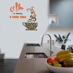 фото 5798  Виниловый Стикер Coffee a  Good Idea цена, отзывы