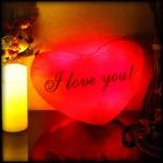 фото 7145  Светящаяся Подушка  Сердце I love You цена, отзывы