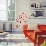фото 5742  Виниловая Наклейка Red Flowers цена, отзывы