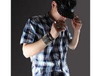 фото 9432  Антический кожаный браслет Spine цена, отзывы