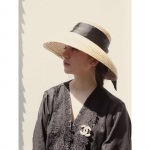 фото 26352  Соломенная шляпа с широкими полями и лентой (Черный) цена, отзывы