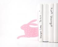 фото 10058  Держатель для книг Бегущий заяц розовый цена, отзывы
