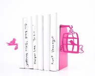 фото 10005  Держатель для книг Клетка с птицами темно-розовая цена, отзывы