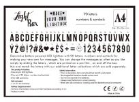 фото 25251  Интерьерный лайтбокс с буквами (А4 90 букв)  цена, отзывы