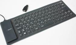 фото 1984  Cупертонкая резиновая гибкая USB-клавиатура цена, отзывы