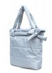 фото 4072  Болоньевая сумка на синтепоне серая Bow цена, отзывы