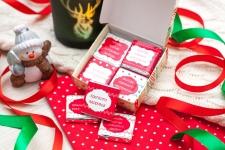 фото 4755  Шоколадный набор С Новым годом на 20 плиточек цена, отзывы