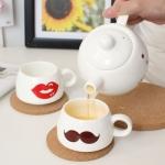 фото 9344  Кофейный набор для двоих Мистер и миссис цена, отзывы