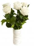 фото 1886  Три долгосвежих розы Белый Бриллиант в подарочной упаковке (не вянут от 6 месяцев до 5 лет) цена, отзывы
