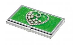 фото 10397  Подарочный набор ручка и визитница Минта зеленый цена, отзывы