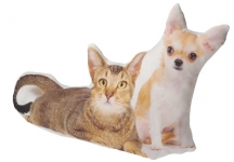 фото 3615  Подушка Кошка и собака цена, отзывы