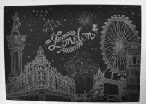 фото 9816  Скретч картина Лондон ночью цена, отзывы