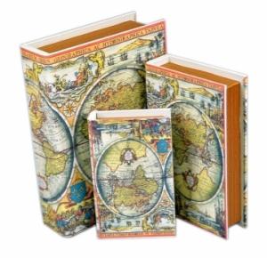 Книга-шкатулка Карты мира 3шт.