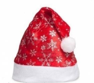 Шапка Деда Мороза со снежинками