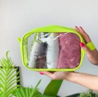 Прозрачная косметичка для косметики, мокрого купальника 22х15х8 см (Салатовый)