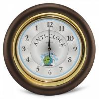 Часы идут в обратную сторону Anti-clock (коричневый)