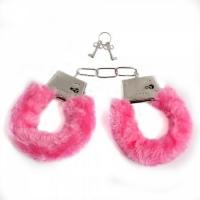 Меховые  наручники (Розовый)