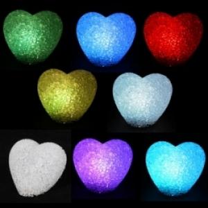Светильник кристальны сердце (CRYSTAL )