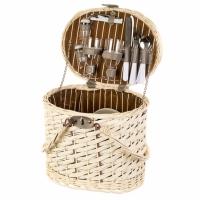Набор для пикника на 2 персоны в корзине с ручками