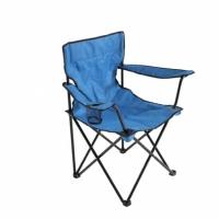Складное кресло-стул для пикника с подстаканником в чехле 50х50х80 см (синий)