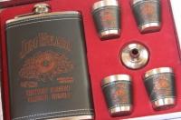 Фото Подарочный набор фляга со стопками Jim Beam black-red
