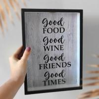 Копилка для винных пробок Good food, wine, friends, times