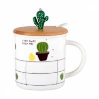 Фото Керамическая чашка с Кактусом