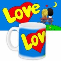 Фото Чашка blue Love is...