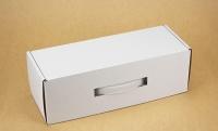Подарочная коробка для бутылки Белая 33х12х11см