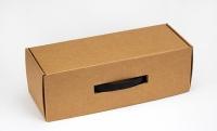 Подарочная коробка для бутылки Крафтовая 33х12х11см