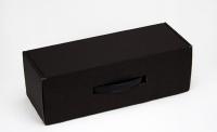 Подарочная коробка для бутылки Черная 33х12х11см