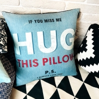 Фото Подушка If you miss me hug this pillow 40х40см