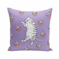 Подушка Кот с кексами