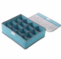 Органайзер для белья на 24 ячейки Бамбуковый (Голубой)