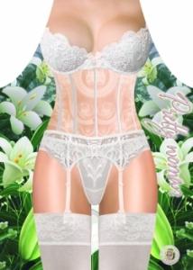 Фото Фартук прикольный женский Белое белье