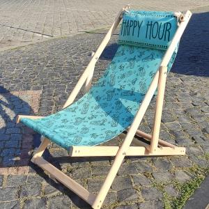 Шезлонг складной для пляжа и бассейна Счастливый час