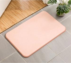 Коврик в ванную комнату диатомитовый (розовый)