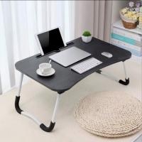 Фото Портативный складной столик для ноутбука и планшета (черный)