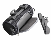 Фото Водонепроницаемая велосипедная сумка с прозрачным карманом для телефона на руль (черный)