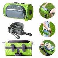 Водонепроницаемая велосипедная сумка с прозрачным карманом для телефона на руль (зеленый)