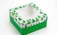 Фото Подарочная коробка Ёлки 20х20х10 см