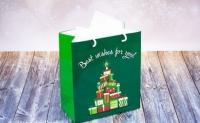 Фото Подарочный пакет Новогодние Ёлки 24х21 см
