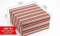 Фото Подарочная коробка Вязка Красная 20х20х10 см