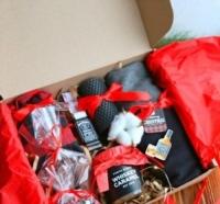 Фото Подарочный набор  Красный стиль с виски