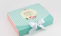 Подарочная коробка Искренние поздравления 25х20х5 см (Голубой)