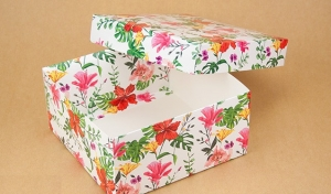 Подарочная коробка Тропик 20х20х10 см