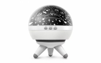 Проектор звездного неба Космический Шар Ракета (White)